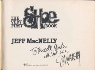Jeff Macnelly Signed Book with Original Hand Written Letter Shoe