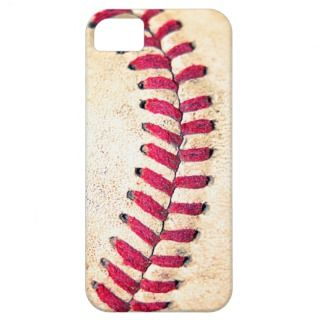 Vintage Baseball Red Stitches Close Up Photo iPhone 5 Covers