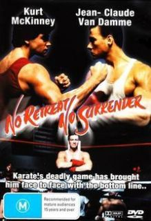 No Retreat No Surrender Jean Claude Van Damme SEALED New Movie DVD