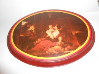 CO METAL OVAL PICTURE THE HAPPY FAMILY BY JEAN HONORE FRAGONARD 74