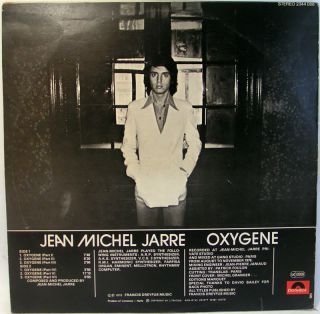 Jean Michel Jarre Oxygene LP Israeli Press Synth 1976