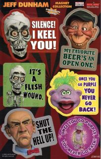 Jeff Dunham Characters Peanut Achmed Walter Bubba J Magnet Sheet HT
