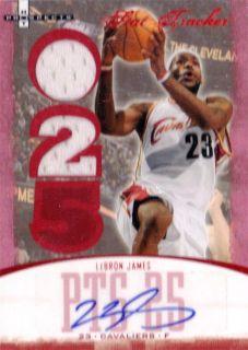 2007 Fleer Hot Prospects NBA Basketball Pack. Lebron James MVP Auto