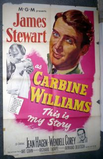 Original Poster James Stewart Jean Hagen 1952 One Sheet 27x41