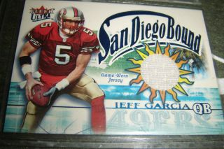 Jeff Garcia Authentic Game Worn Jersey Card Fleer Ultra 02 49ers