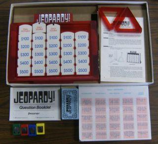 Jeopardy 1988 Pressman Board Game Complete