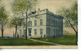 Jefferson City Missouri National Guard Armory Postcard