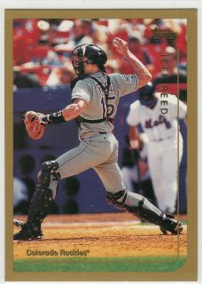 Jeff Reed Rockies Giants Reds Expos Twins Catcher 1999 Topps Card 144