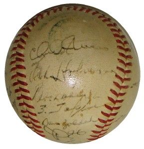1946 St Louis Browns Team 23 Signed Official Al Baseball