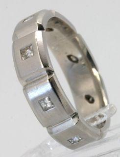 Jeff Cooper 50ct Princess Diamond Platinum Mens Band