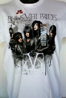 Black Veil Brides New Mens Punk Rock Band T Shirt Hot Topic Tags