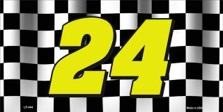 LP 044 Jeff Gordon Nascar #24 Novelty Metal License Plate Auto Vehicle