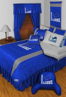Detroit Lions NFL Twin Full Queen Comforter Bed Sets