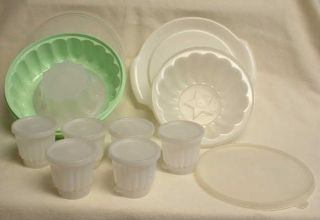 Vintage Tupperware Jello Molds Individuals 25pc Total