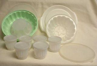 Vintage Tupperware Jello Molds Individuals 25pc Total