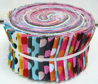 TA Dots Strip Roll 2 5 Fabric Quilting Strips Jelly Roll