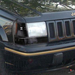 Jeep Grand Cherokee Parking Bumper Lights Black Pair