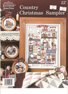 Jeremiah Junction Cross Stitch Book Country Christmas Sampler