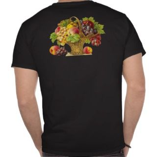 Peaches and Fruits Basket   Vintage Art T shirt