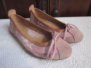 Coach Jenilee Pink Signature Ballet Flats Shoes 9