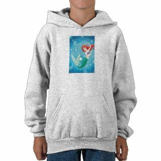 Little Mermaid Birthday Card Disney Hooded Pullover