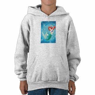 Little Mermaid Birday Card Disney Hooded Pullover