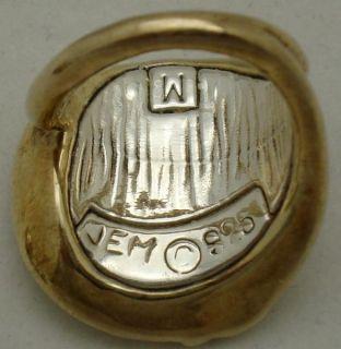 Jem Israel Sterling Silver Gold Electroformed Bracelet Ring Earring