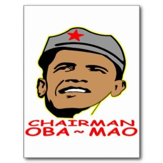Obama Chairman Oba ~ Mao Postcards