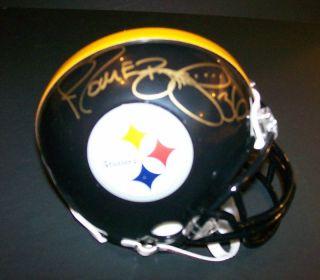 Pittsburgh Steelers Jerome Bettis Signed Mini Helmet