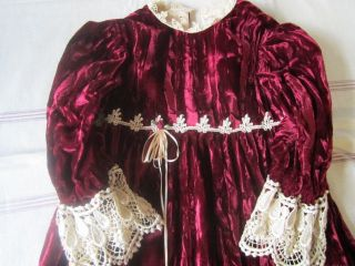 Jenny Ann Ltd Victorian Childrens Clothing Apparel Gown Dress Bonnet