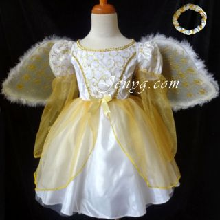 Gorgeous Angel Dress Up for Halloween Christmas Party Princess Costume