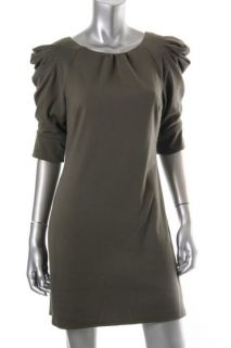 Jessica Simpson New Green Cinched Elbow Sleeves Above Knee Casual