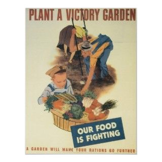 Vintage Victory Garden WWII Poster Art