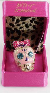 Betsey Johnson Jewelry Viva La Betsey Pink Skull Ring
