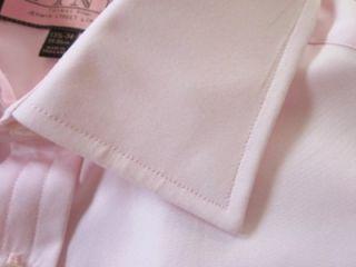 Thomas Pink Solid Pink Dress Shirt 15 5 34