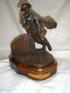 Michael Roche Signed Jesse James Bronze Pewter Statue