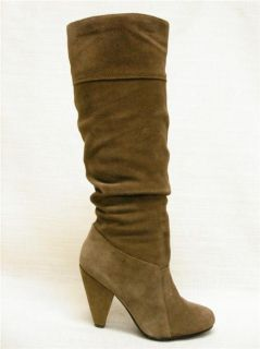 Jessica Simpson Angie Dust Suede Slouch Knee High Boots Light Brown 5