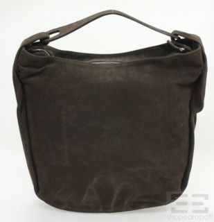 Jil Sander Brown Suede Large Hobo Bag New