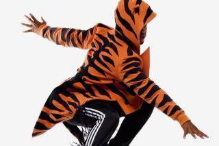 Sizes XS S M XL Adidas Jeremy Scott Tiger Tux Tuxedo Wings Cross