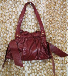 Jill Stuart Gorgeous Lamb Leather Red Small Shoulder Purse Handbag