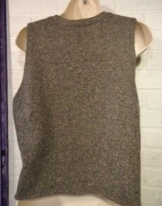 Dark Gray Tweed Wool Cashmere Blend Sweater Vest J Jill Size M