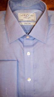 Charles Tyrwhitt Jermyn St Nicland Blue Imperial Classic LS Shirt 15 5