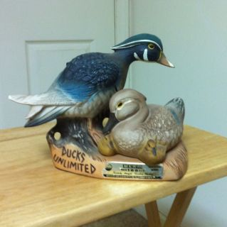 Jim Beam Decanter from The Ducks Unlimited Edition Dated 1982
