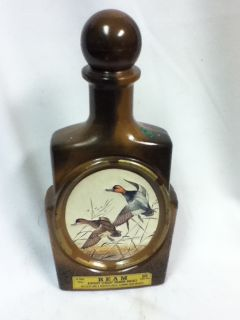 KX9 Jim Beam Bottle Decanter Whiskey Ducks Collectible Bar Tavern