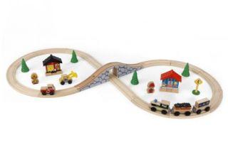 KidKraft Figure 8 Wooden Train Set Fit Thomas Brio