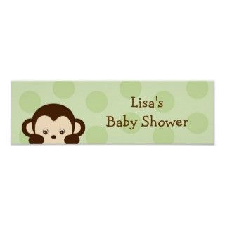 Mod Monkey TWINS Customizable Birthday Banner Posters