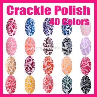 Nail Art 40 Colors Crackle Nail Polish Varnish Shatter Cracking 18ml