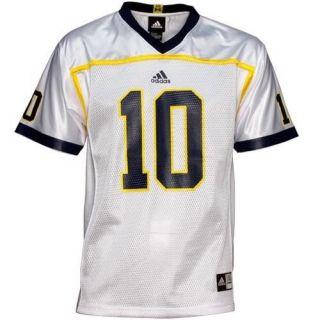 Michigan Wolverines White Medium Adidas Jersey NCAA Authentic