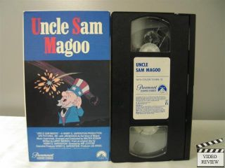 Uncle Sam Magoo VHS Mr Magoo Voiced by Jim Backus