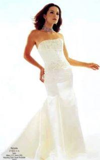 Jessica McClintock White Beaded Mermaid Wedding Gown Size 4